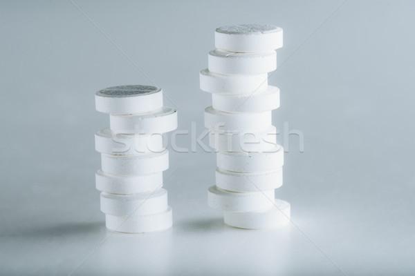 Witte medische geneeskunde pillen Stockfoto © LightFieldStudios