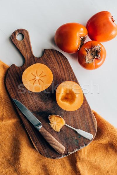 Górę widoku nóż łyżka tekstury Zdjęcia stock © LightFieldStudios