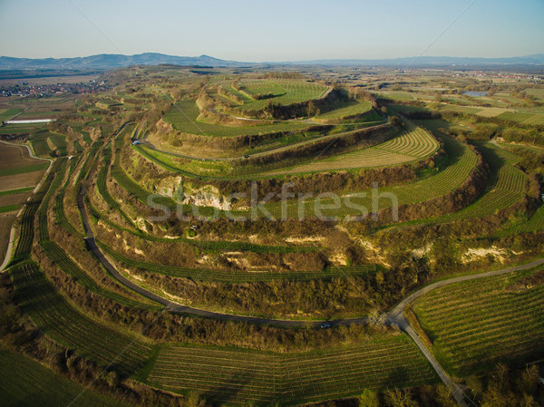 Aerial view of scenic landscape with green fields on tiers, Germany Stock photo © LightFieldStudios
