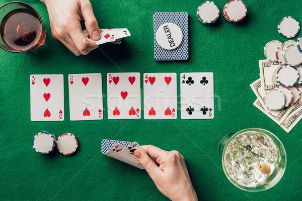 человека женщину карт играет покер таблице Сток-фото © LightFieldStudios