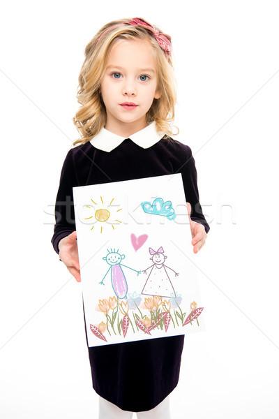 Small kid with paintings Stock photo © LightFieldStudios