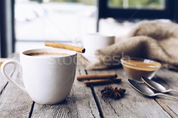 Fincan kakao tablo görmek aromatik Stok fotoğraf © LightFieldStudios