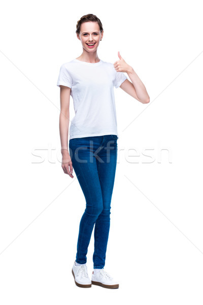 woman with thumb up Stock photo © LightFieldStudios