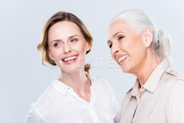Photo stock: Séduisant · adulte · fille · mère · souriant · isolé