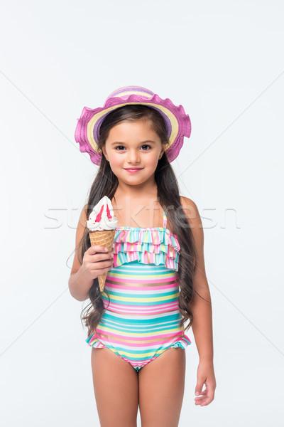 child in swimsuit with ice cream    Stock photo © LightFieldStudios