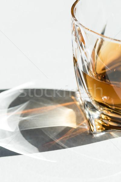Cognac vue luxe verre blanche Photo stock © LightFieldStudios