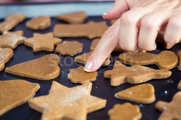 Raw Christmas cookies Stock photo © LightFieldStudios