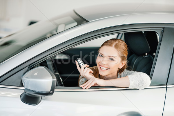 Feliz clave sesión coche nuevo persona Foto stock © LightFieldStudios