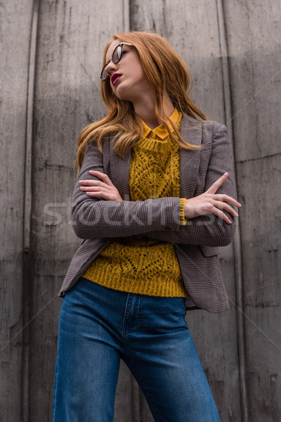 redhead girl in autumn outfit Stock photo © LightFieldStudios
