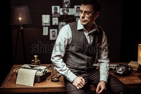 handsome man counting cash Stock photo © LightFieldStudios