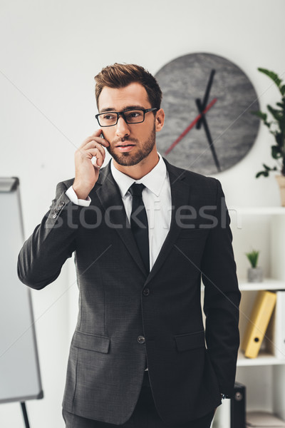 Stock photo: businessman talking by phone