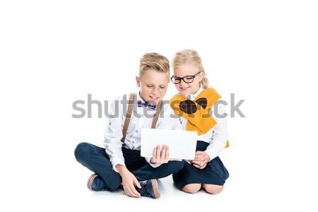 kids using digital tablet Stock photo © LightFieldStudios
