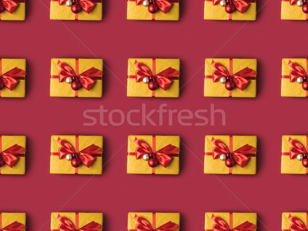 Présente décoré Noël jouets full frame Photo stock © LightFieldStudios
