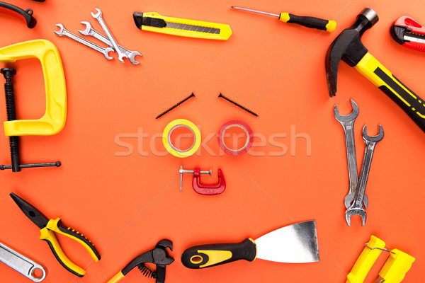 Smiley face made of tools Stock photo © LightFieldStudios