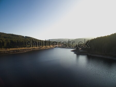 Aerial view of scenery landscape with river and forest, Germany Stock photo © LightFieldStudios