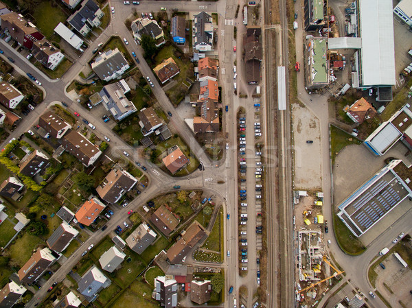 Aerial view of urban city and road with cars in Germany Stock photo © LightFieldStudios