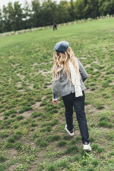 child running at countryside  Stock photo © LightFieldStudios