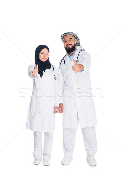 male and female muslim doctors Stock photo © LightFieldStudios