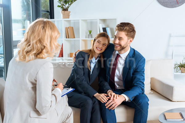 young couple and psychologist Stock photo © LightFieldStudios
