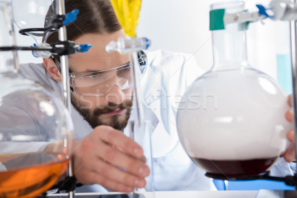 Scientist making experiment Stock photo © LightFieldStudios