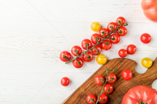 トマト まな板 先頭 表示 おいしい 新鮮な ストックフォト © LightFieldStudios