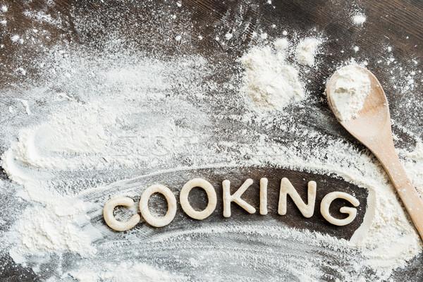 Superior vista comestible palabra cocina dulce Foto stock © LightFieldStudios
