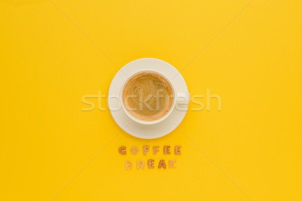 Top beker vers hot koffie Stockfoto © LightFieldStudios