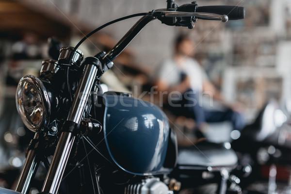Moto view piedi riparazione shop Foto d'archivio © LightFieldStudios