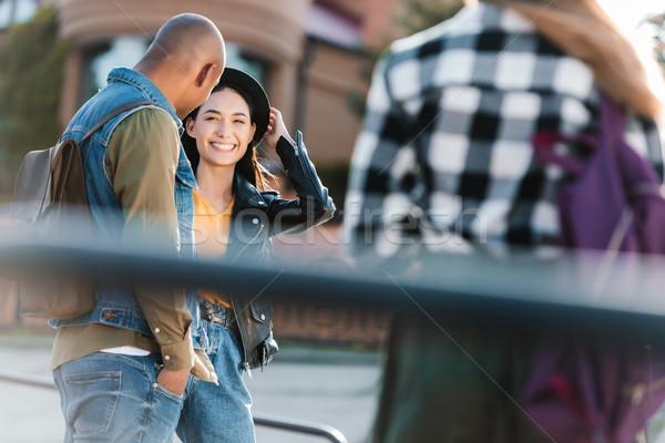 happy multicultural friends Stock photo © LightFieldStudios