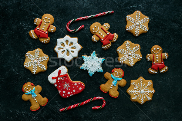 homemade gingerbreads with icing Stock photo © LightFieldStudios