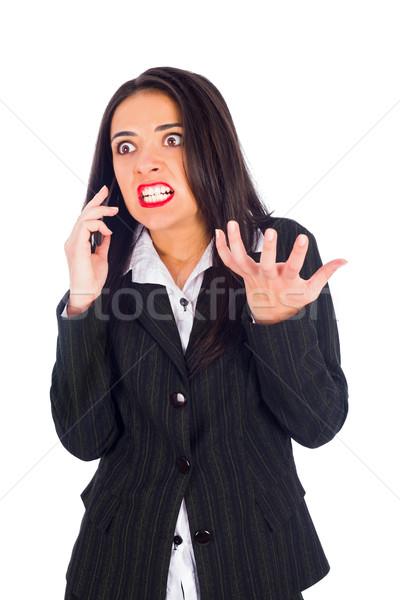 Сток-фото: женщину · телефон · женщину · Boss · телефон