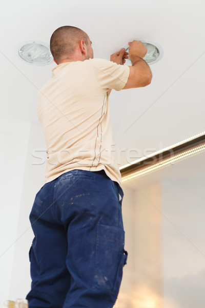 Professional Work of an Electrician Stock photo © Lighthunter