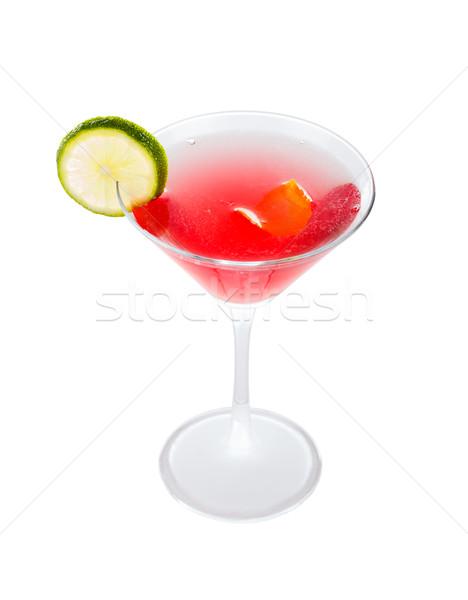 Kokteyl kozmopolit lezzetli dekore edilmiş kireç dilim Stok fotoğraf © Lighthunter