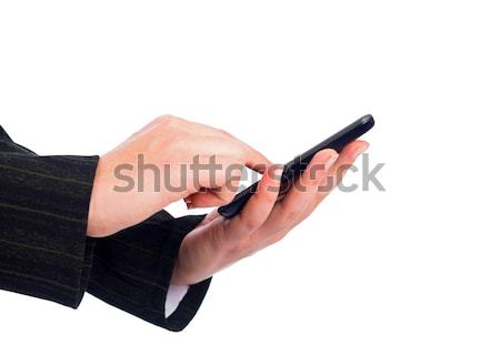 Texting on Smartphone Stock photo © Lighthunter