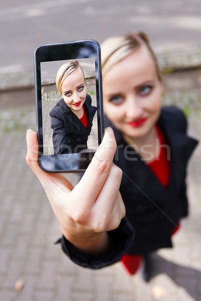 Selfie with camera Stock photo © Lighthunter