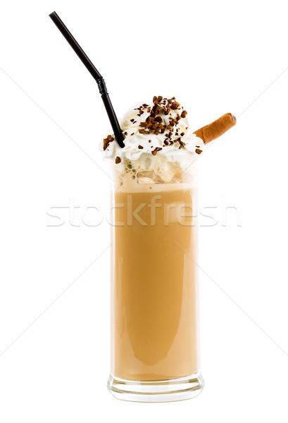 Stockfoto: Mooie · smakelijk · koffie · slagroom · chocolade · koffie