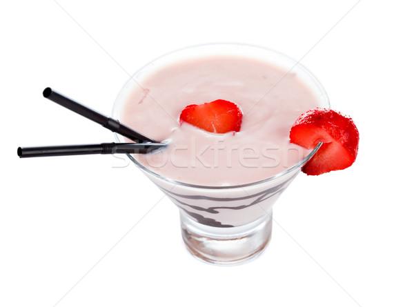 Chocolat fraise savoureux vodka café fruits Photo stock © Lighthunter