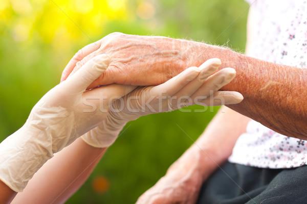 Elderly hand Stock photo © Lighthunter