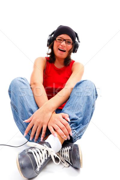Juventude música mulher jovem menina ouvir música Foto stock © Lighthunter