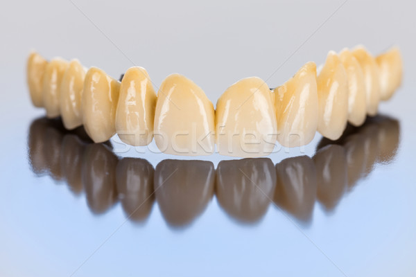 Ceramic teeth - dental bridge Stock photo © Lighthunter