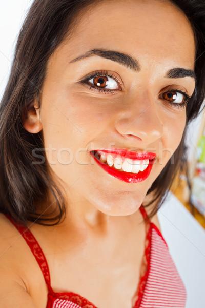 Selfportrait of a Beautiful Woman Stock photo © Lighthunter