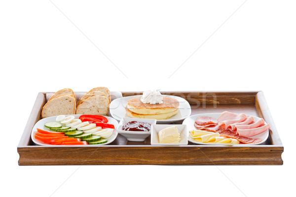 Continental fraîches légumes pain viande alimentaire Photo stock © Lighthunter