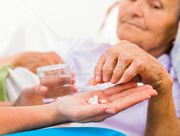 Daily Medicine from Nurse Stock photo © Lighthunter