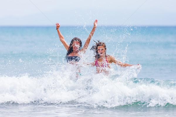 Stock photo: Bathing in the ocean