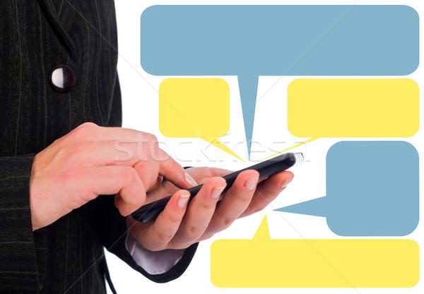 Smartphone Messaging Stock photo © Lighthunter