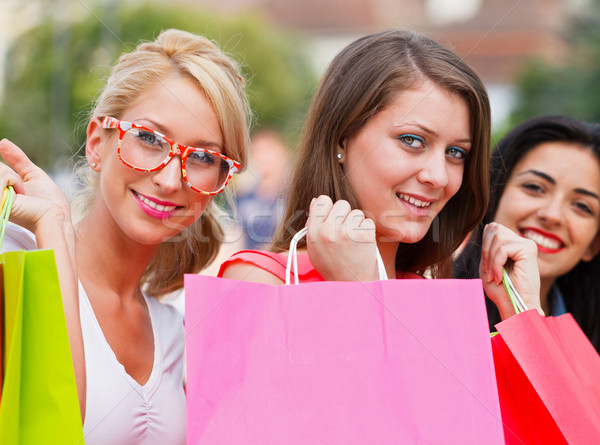 Three Women Out In Town Shopping Stock photo © Lighthunter
