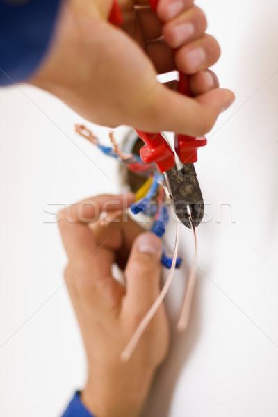 Handyman working closeup Stock photo © Lighthunter