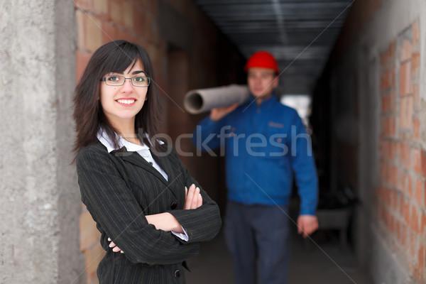 Supervising  progress Stock photo © Lighthunter