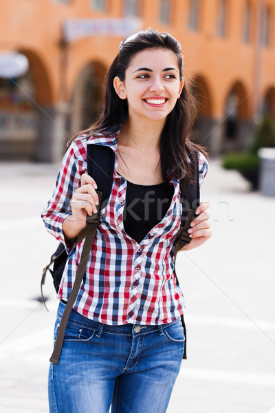 Stock photo: Young traveller woman