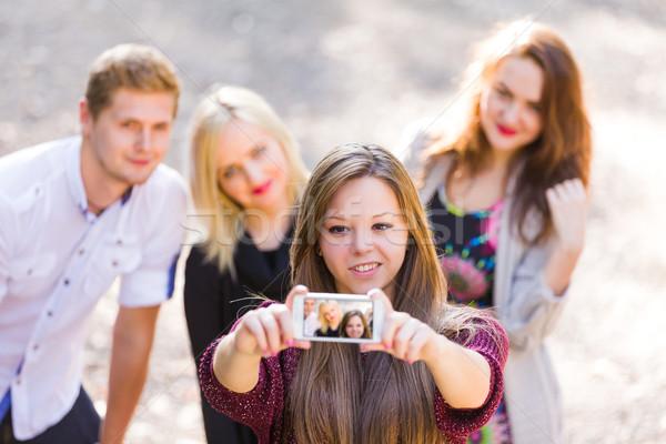 Funny group selfie Stock photo © Lighthunter